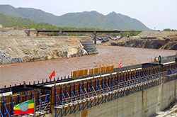Grand Ethiopian Renaissance Dam construction