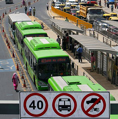 In New Delhi, A Rough Road For Bus Rapid Transit Systems