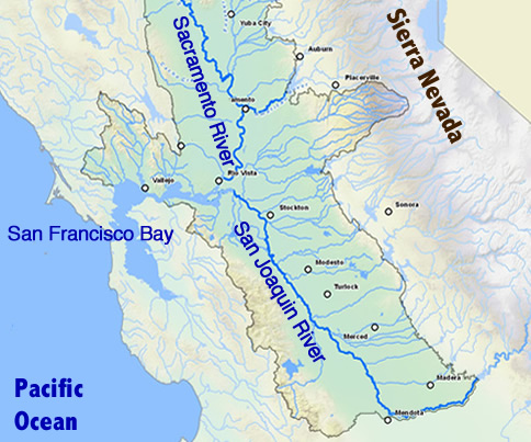 For California Salmon Drought And Warm Water Mean Trouble Yale E - Map of california rivers
