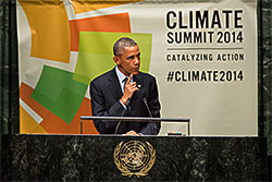 Obama at NYC climate summit