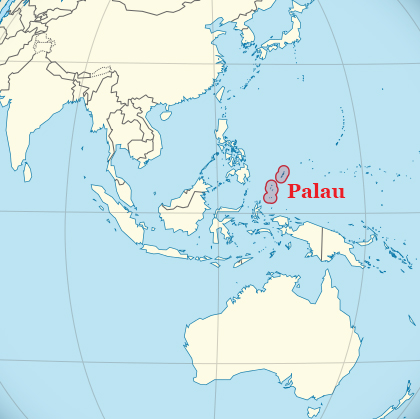 A Tiny Pacific Nation Takes TheLead On Protecting Marine Life - Palau map