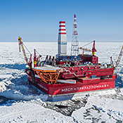 Oil rig in the Barents Sea