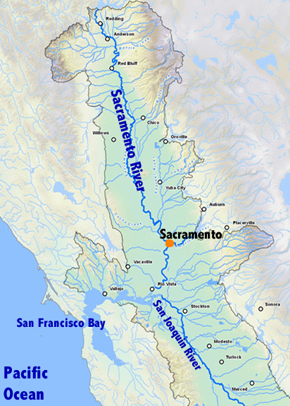 Map Of Sacramento River California  Bing Images