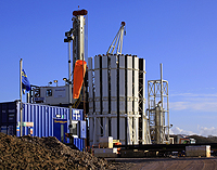 Shale drilling rig blackpool england cuadrilla resources