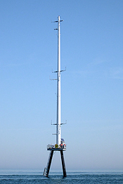 Cape Wind meteorological tower Nantucket Sound