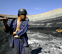 Coal miner in Inner Mongolia