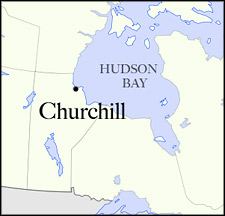 Churchill Canada Map