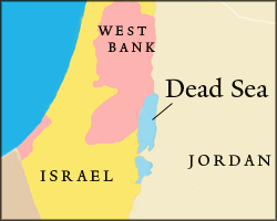 Map of Dead Sea