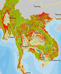 Map Of Asia During Vietnam War.A Plague Of Deforestation Sweeps Across Southeast Asia Yale E360