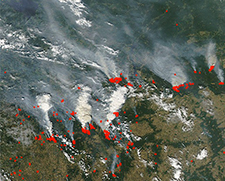 NASA Russia Wildfires 2010