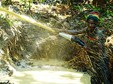 Illegal gold mining in Suriname