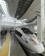 China high speed rail Beijing