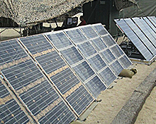 Marine Expeditionary Energy Portable greens Solar System