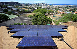 Honolulu rooftop solar panels