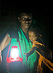 Solar Sister Woman with Child